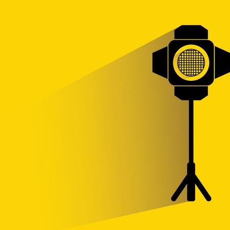 stage lighting: studio lighting Illustration