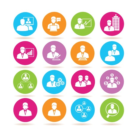 human resource icons Illustration