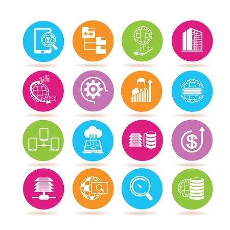 data base: data analytics icons Illustration