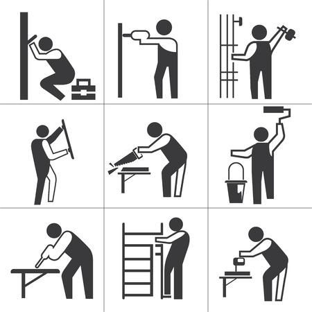 handy: industrial worker icons