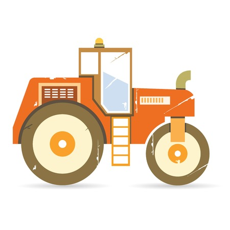old tractors: tractor Illustration