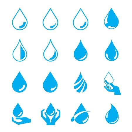lagrimas: set gota de agua Vectores