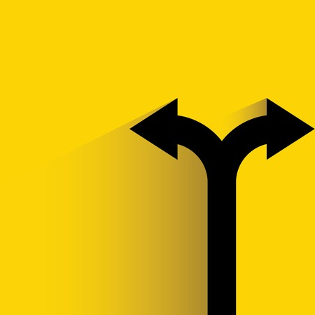 two way: decision making, direction Illustration