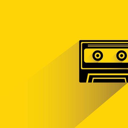 audio cassette: cassette tape Illustration