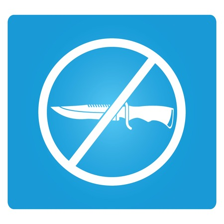 stifle: no knife symbol Illustration