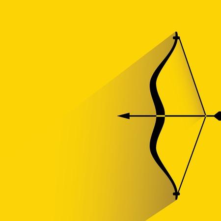 longbow: bow and arrow