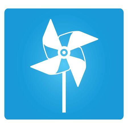 wind mill toy: pinwheel Illustration