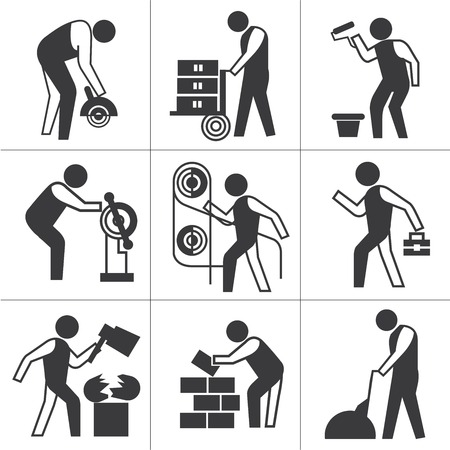 recondition: industrial worker icons