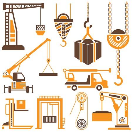 hoist: construction crane