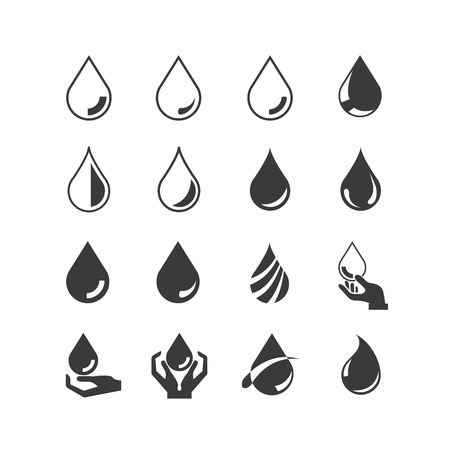 blood drops: water drop icons