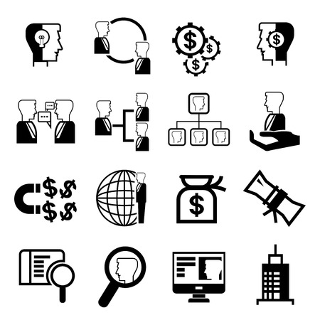 re employment: business management icons Illustration