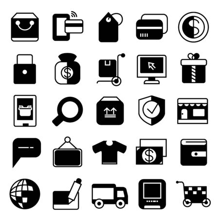 shoppping: e commerce icons