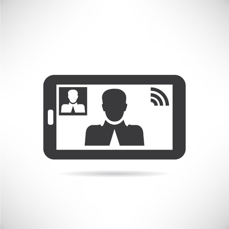 video call: video call Illustration