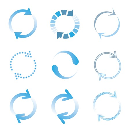 loading and buffering icons Vector
