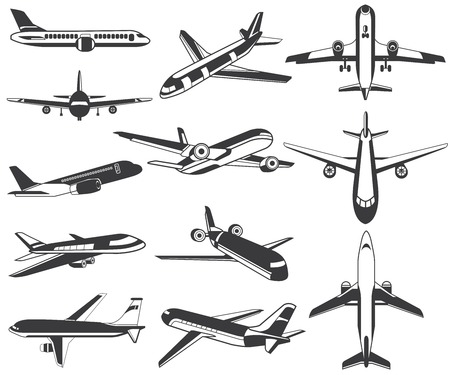 side view: plane icons