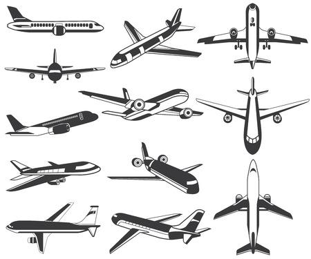 Vliegtuig pictogrammen Stockfoto - 32903531