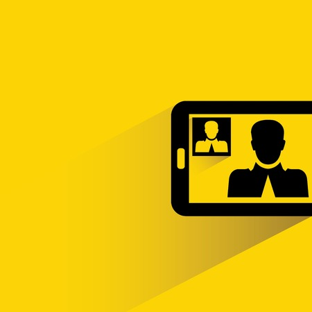 mobile conference, video call Vector