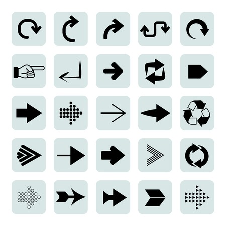 indexes: arrow icons Illustration