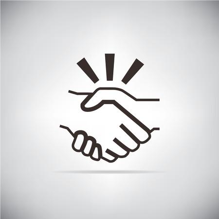 kézfogás Illusztráció