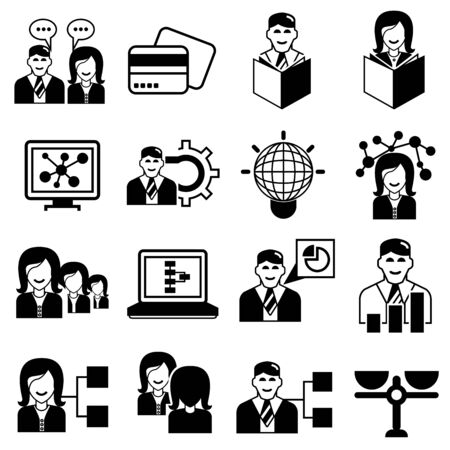 business roles: office management icons