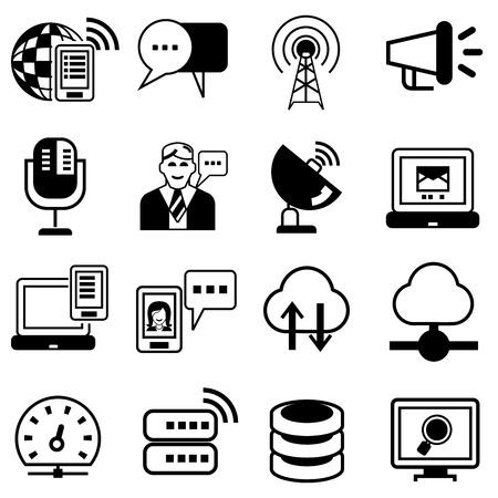 transmitting: communication icons
