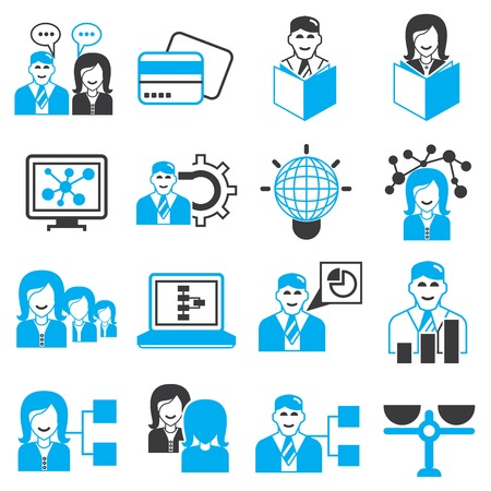 office management and business icons Vector