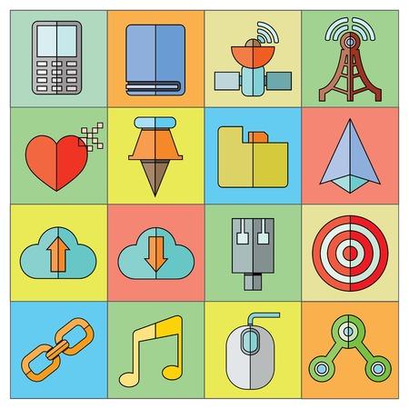 web and internet icons Illusztráció