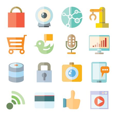 network and communication icons Vector
