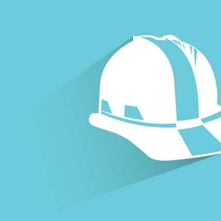 work safe: safety helmet Illustration