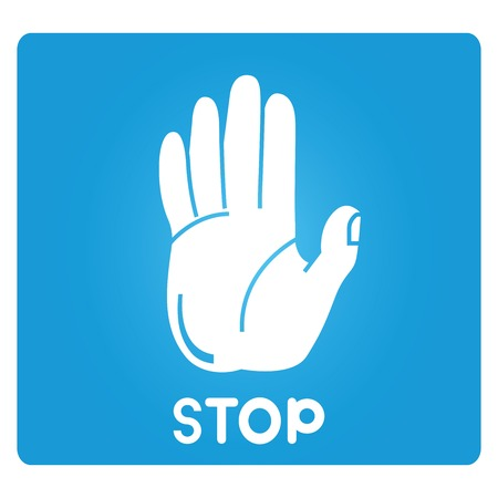 restrictive: stop hand sign