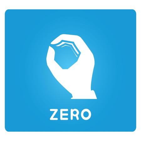 null: zero hand sign