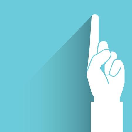 finger index: number one, index finger