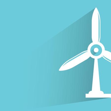 aero generator: wind turbine Illustration