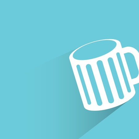 intoxicant: beer cup on blue