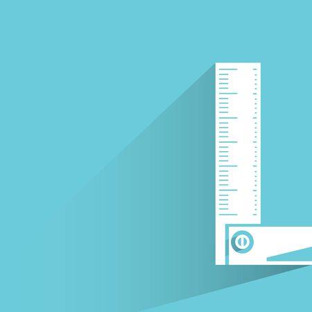 draftsmanship: ruler on blue