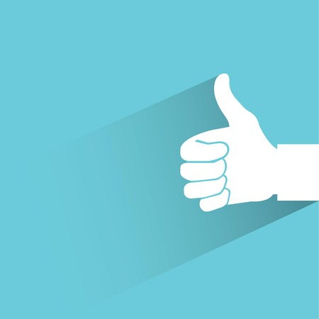 assent: thumb up on blue