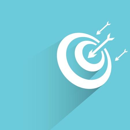 objectivity: dart target on blue Illustration