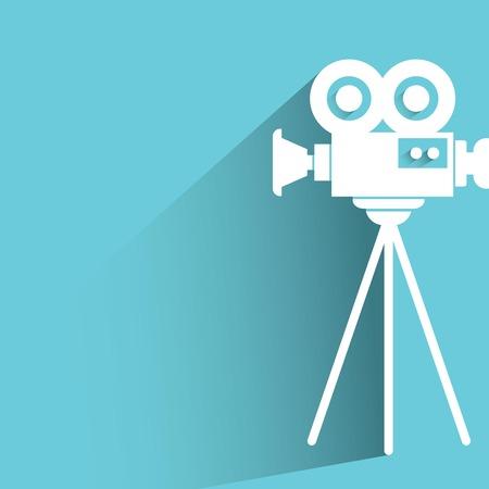 cinematograph: c�mara de cine Vectores