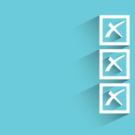 rejected: rejected, check box Illustration