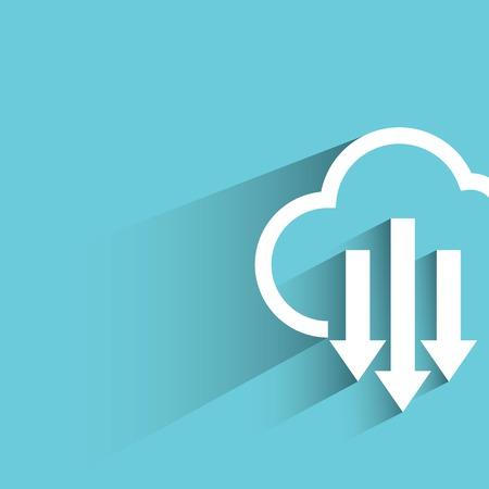 cloud files: cloud download Illustration