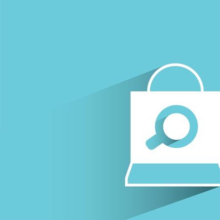 e commerce: e commerce and shopping bag