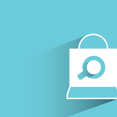 e commerce and shopping bag