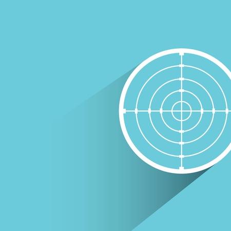crotch: crosshair, dart target