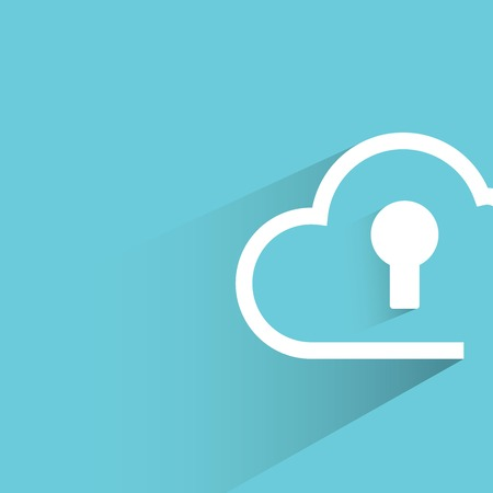 data protection: cloud security Illustration