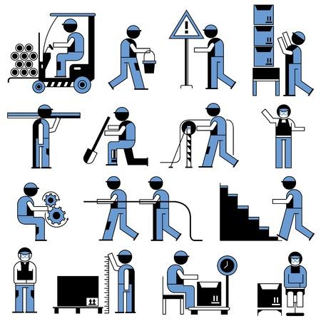 las personas que trabajan en las obras de construcción