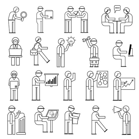 working people in office situations Vector