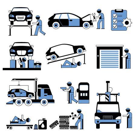 repair man: hombre de la reparaci�n en sitio de garaje, estaci�n de servicio de autom�viles
