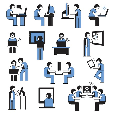business man in office place Vector