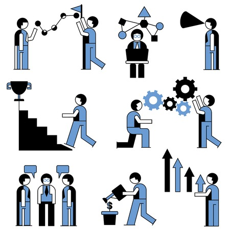 job functions: people icons Illustration