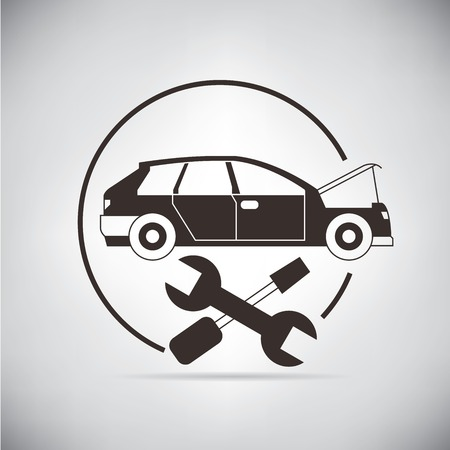 servicing: auto service Illustration
